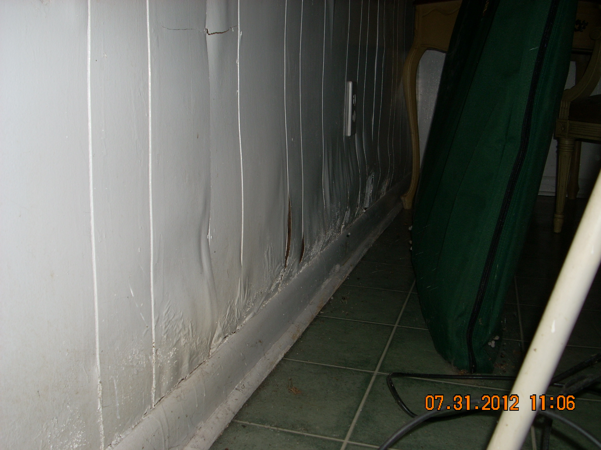 Paneling water damage