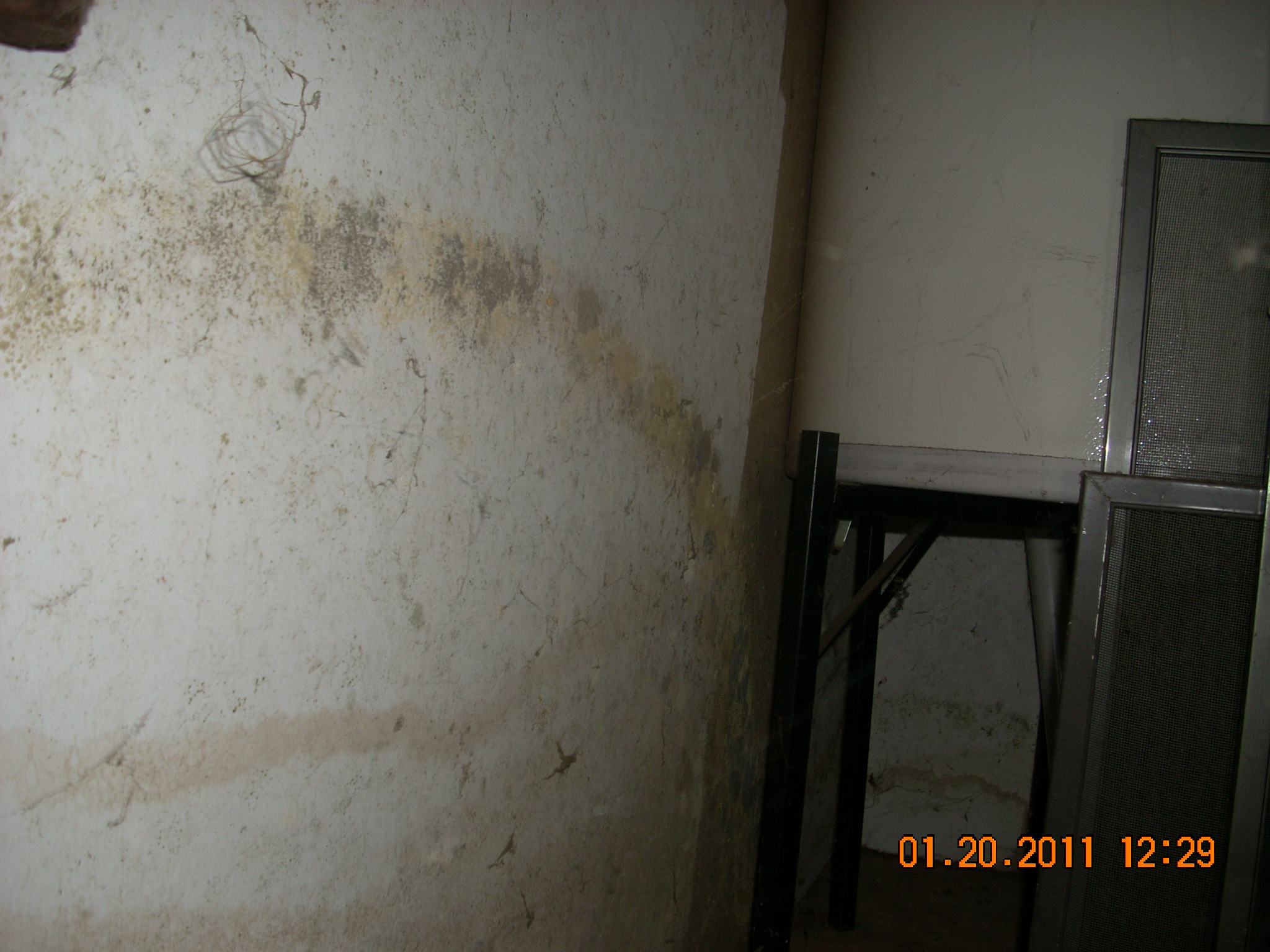 Water stained sheetrock